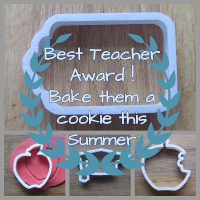 Teacher Gift cookie Cutters