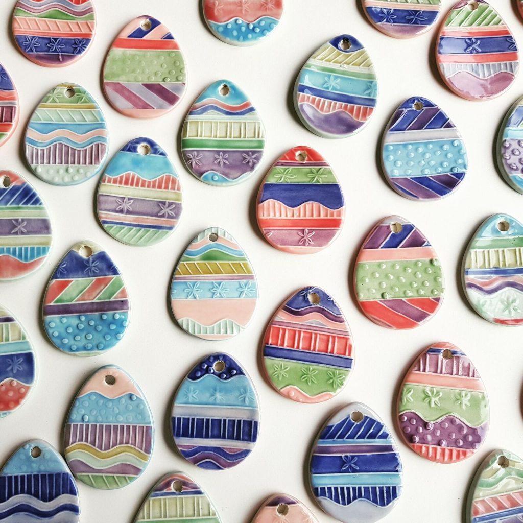 Porcelain Eggs from Egg Cutter
